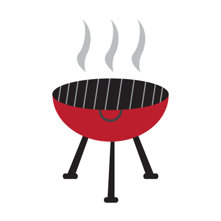 Illustration pour Isolated barbecue grill on a white background, Vector illustration - image libre de droit