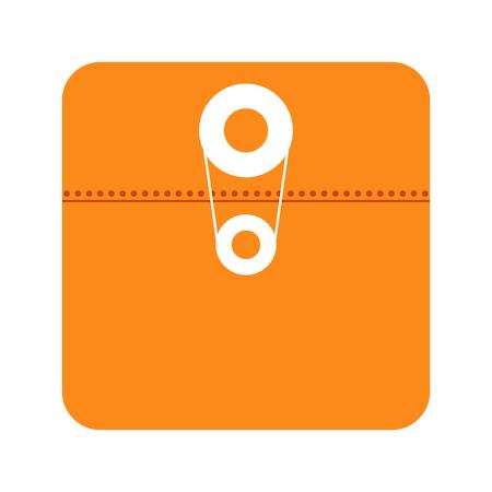 Illustration pour File app icon isolated on white background vector illustration - image libre de droit