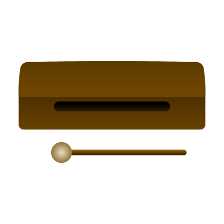 Ilustración de Isolated wood block. Musical instrument - Imagen libre de derechos