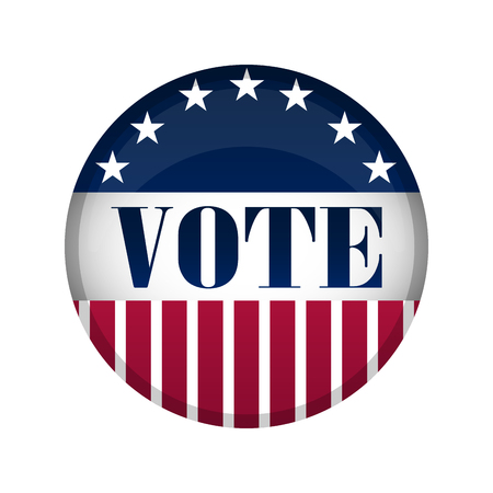 Illustration pour United States campaign button. Vector illustration design - image libre de droit