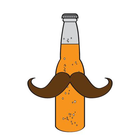 Illustration pour Hipster beer icon - image libre de droit