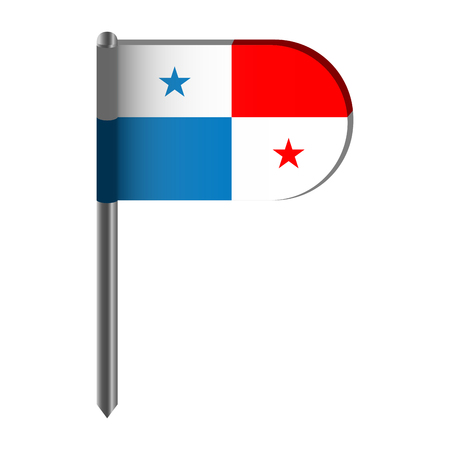 Illustration pour Isolated flag of Panama - image libre de droit