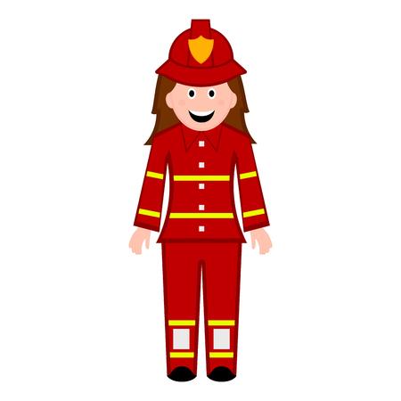 Illustrazione per Isolated female firefighter icon. Vector illustration design - Immagini Royalty Free