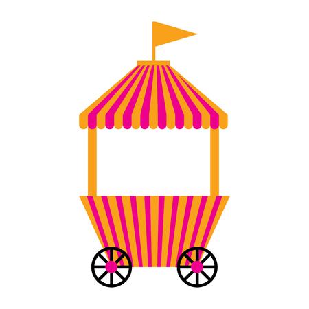 Illustration pour Isolated carnival shopping tent. Vector illustration design - image libre de droit