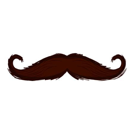 Illustrazione per Isolated moustache icon. Hipster concept. Vector illustration design - Immagini Royalty Free