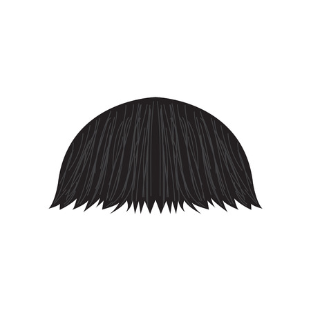 Illustrazione per Isolated detailed mustache. Hipster style. Vector illustration design - Immagini Royalty Free