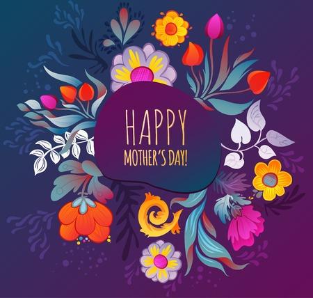 Illustration pour Happy Mother s Day Card  - image libre de droit