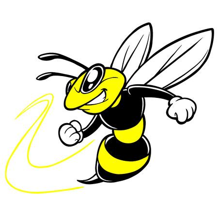 Ilustración de Bee Team Mascot - Imagen libre de derechos