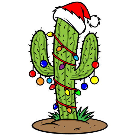 Illustration for Christmas Cactus - Royalty Free Image