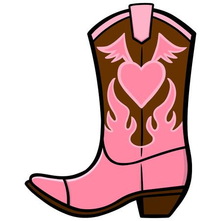 Ilustración de Cowgirl Boot - Imagen libre de derechos