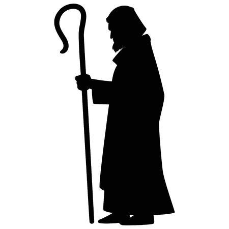 Illustrazione per Joseph with Shepherd's Hook - Immagini Royalty Free