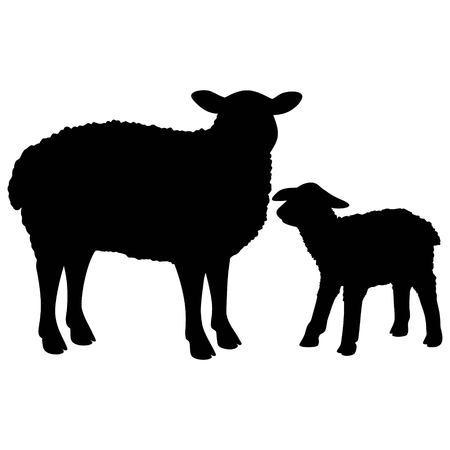 Ilustración de Sheep Silhouette - Imagen libre de derechos