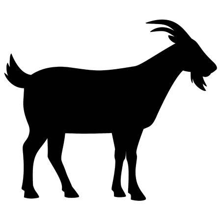 Ilustración de Goat Silhouette - Imagen libre de derechos