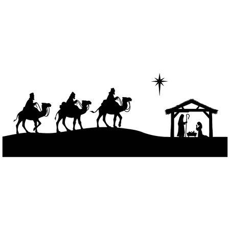 Ilustración de Nativity Abstract - Imagen libre de derechos