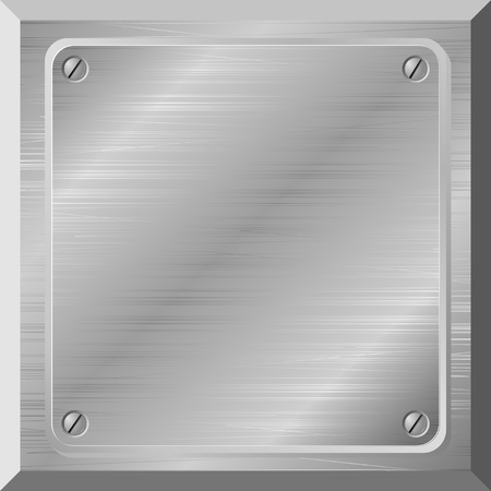 Vector illustration of a metal plate with scratches