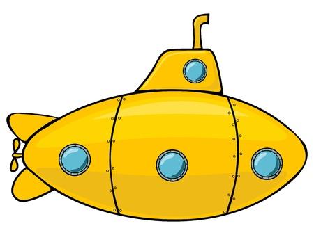 Illustration for Yellow submarine - Royalty Free Image