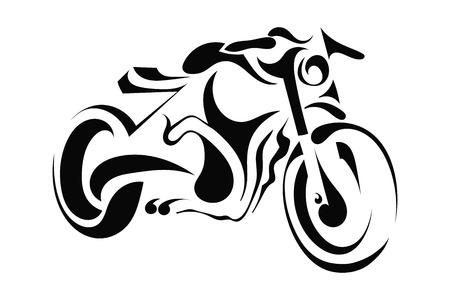 Illustration pour Motorbike on white background - image libre de droit