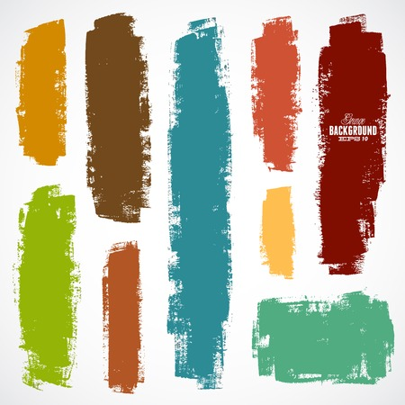 Photo for Vector set of grunge colorful brush strokes - Royalty Free Image