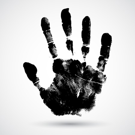 Illustration pour Print of hand of child, cute skin texture pattern,vector grunge illustration - image libre de droit