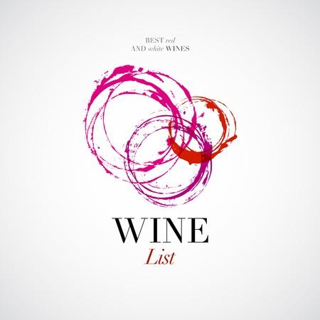 Illustration pour Vector wine list with stain icon - image libre de droit