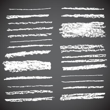 Illustration pour Vector Chalk Lines. Hand drawn illustration. - image libre de droit