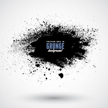 Ilustración de Grunge splash banner - Imagen libre de derechos