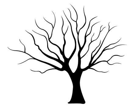 Ilustración de tree silhouette isolated - Imagen libre de derechos