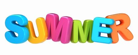 3d render of a summer word
