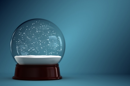 3d render of empty snow globe