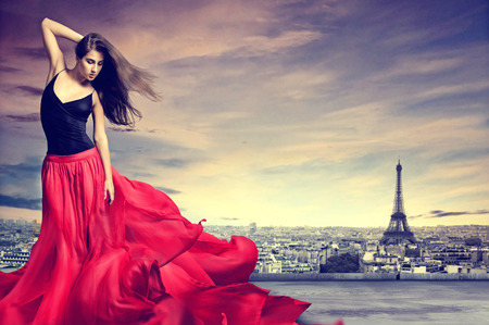 Photo for Girl in Paris - Royalty Free Image