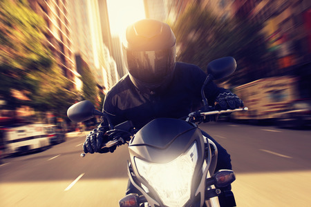Photo for Speeding Motorbike - Royalty Free Image
