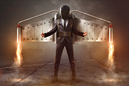 Photo for Jetpack Businessman - Royalty Free Image