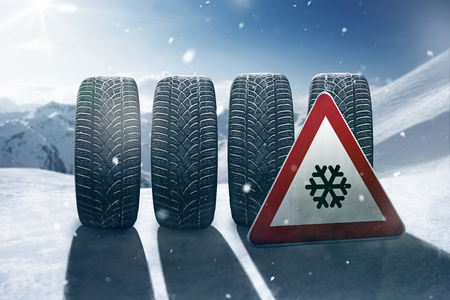 Photo for Snow Tires - Royalty Free Image