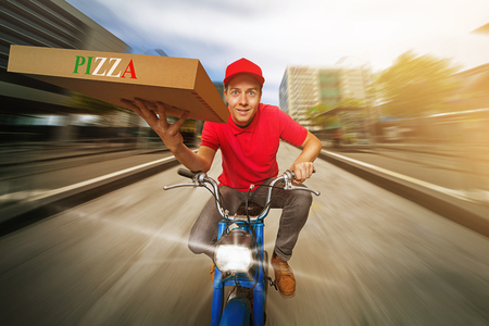 Photo pour Pizza Guy - image libre de droit