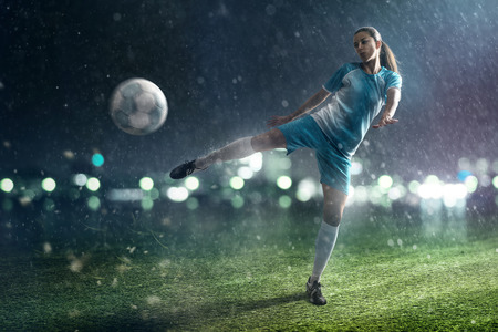 Photo for Soccer Woman - Royalty Free Image