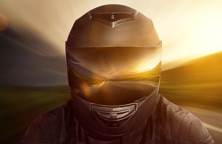 Photo pour Motorbike Helmet - image libre de droit