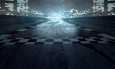 Photo for Racing track in the rain - Royalty Free Image