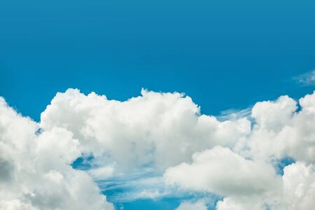 Photo for Fantastic soft white clouds against blue sky background - Royalty Free Image