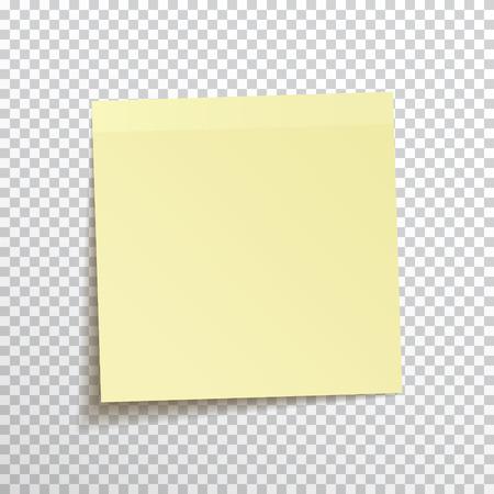 Ilustración de Template yellow sticky note isolated on transparent background. Vector, eps10. - Imagen libre de derechos