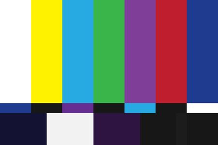 Illustration pour Television test pattern of stripes. - image libre de droit