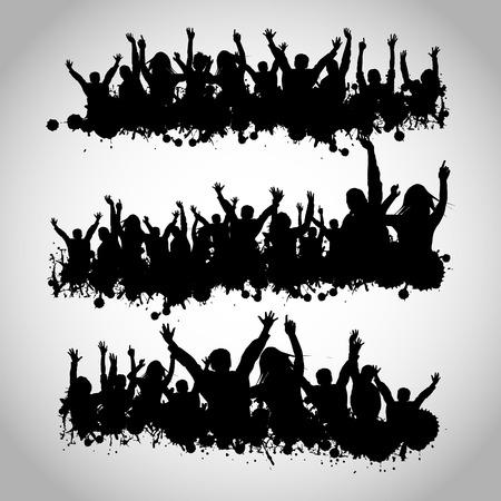 Illustrazione per Party People Silhouettes - Immagini Royalty Free