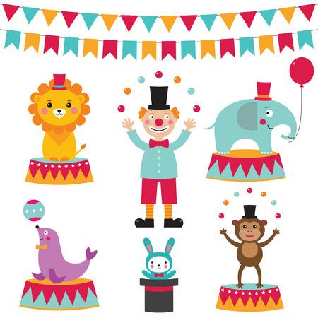 Illustration pour Cute circus set - image libre de droit