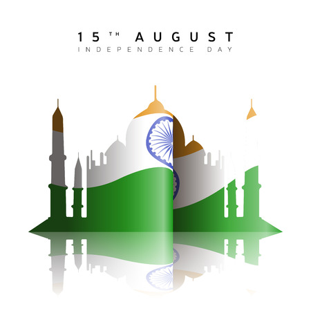 Illustration pour Happy indian independence day graphic design, Vector illustration - image libre de droit