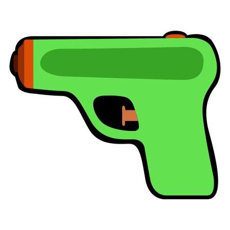Illustration pour Isolated water gun on a white background, Vector illustration - image libre de droit