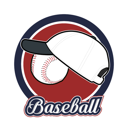 Illustration pour Isolated baseball emblem with a hat, Vector illustration - image libre de droit