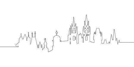 Illustration pour Cityscape of Prague - image libre de droit