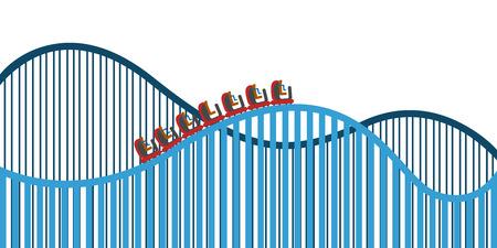 Ilustración de Roller coaster on a white background, Vector illustration - Imagen libre de derechos