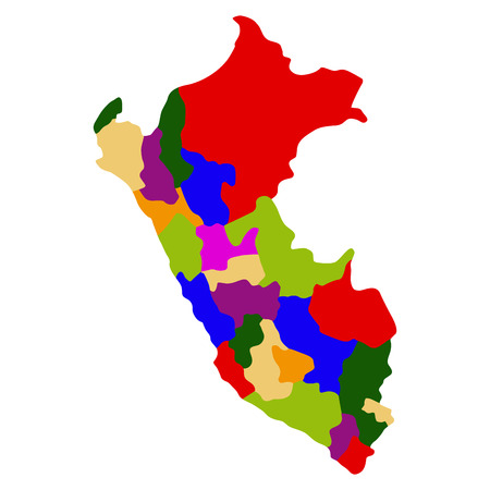 Illustration for Political map of Peru - Royalty Free Image