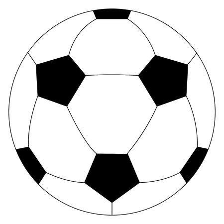 Illustration pour Isolated soccer ball icon - image libre de droit