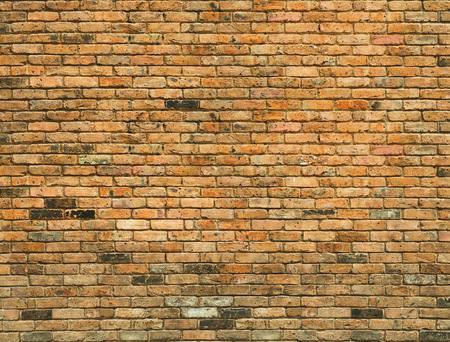 Foto de Detailed old yellow brick wall background photo texture - Imagen libre de derechos